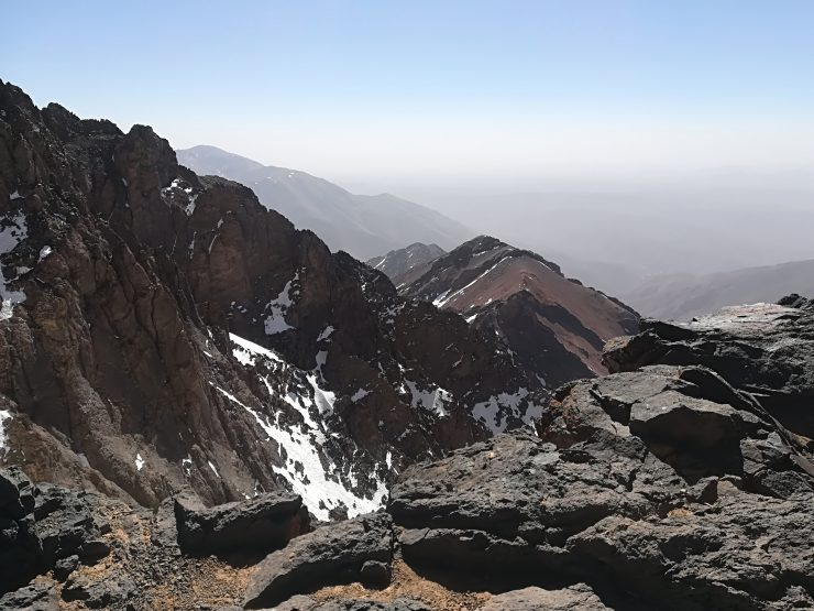 Powyżej przełęczy Tizi'n'Tounbkal