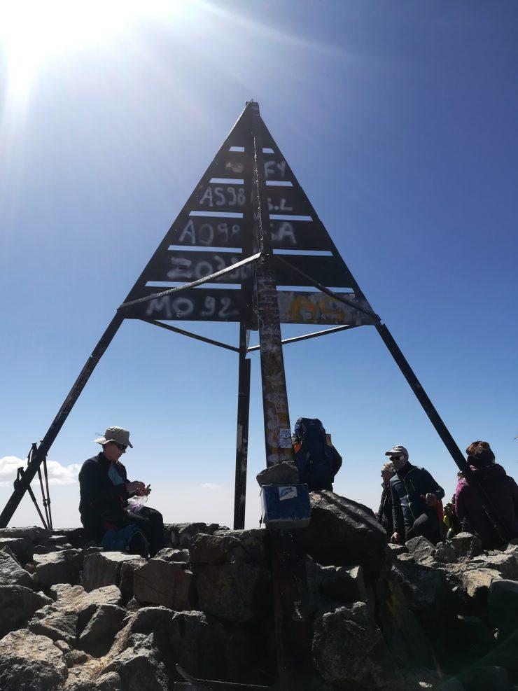 Na szczycie Jebel Toubkal