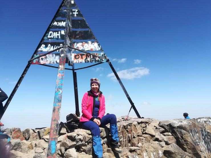 Magda na szczycie Jebel Toubkal