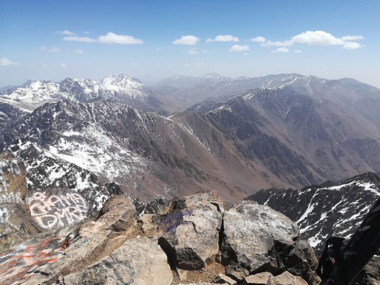 Widoki ze szczytu Jebel Toubkal