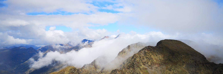 góry, chmury, niebo