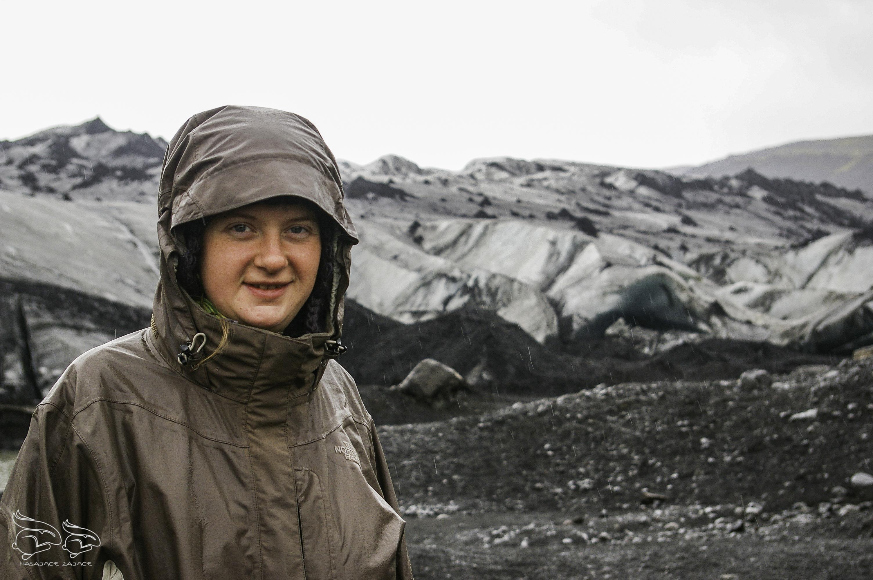 kobieta, kurtka,deszcz, krajobraz