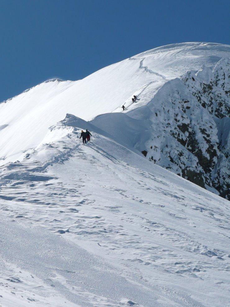 góry, zima, śnieg, szlak