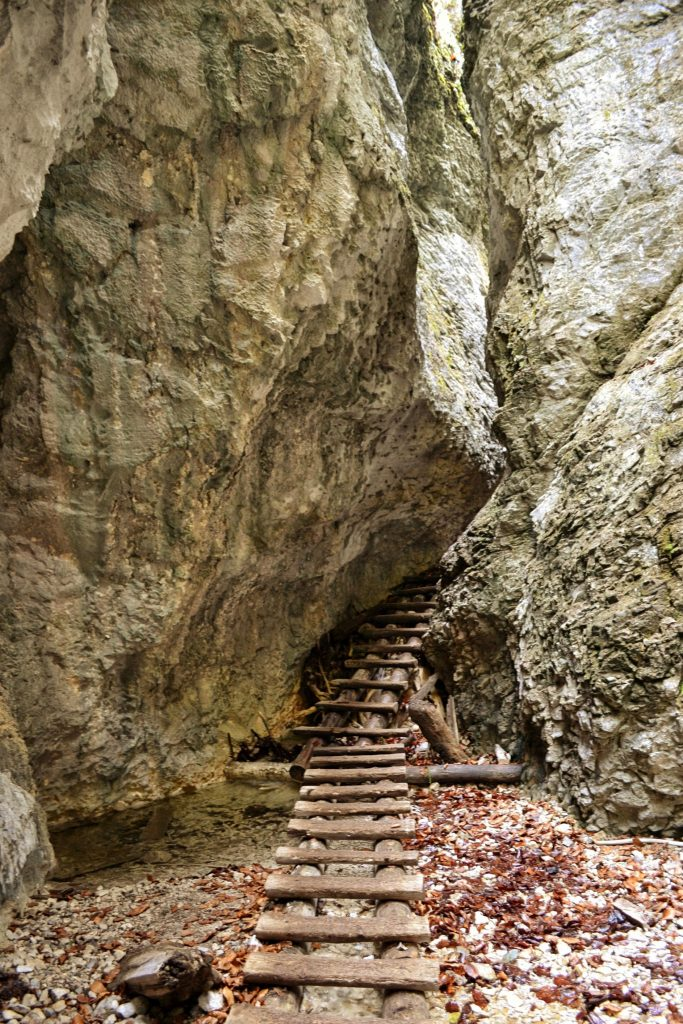 Łańcuchy idrewniane podesty są nieodłącznym elementem krajobrazu Słowackiego Raju