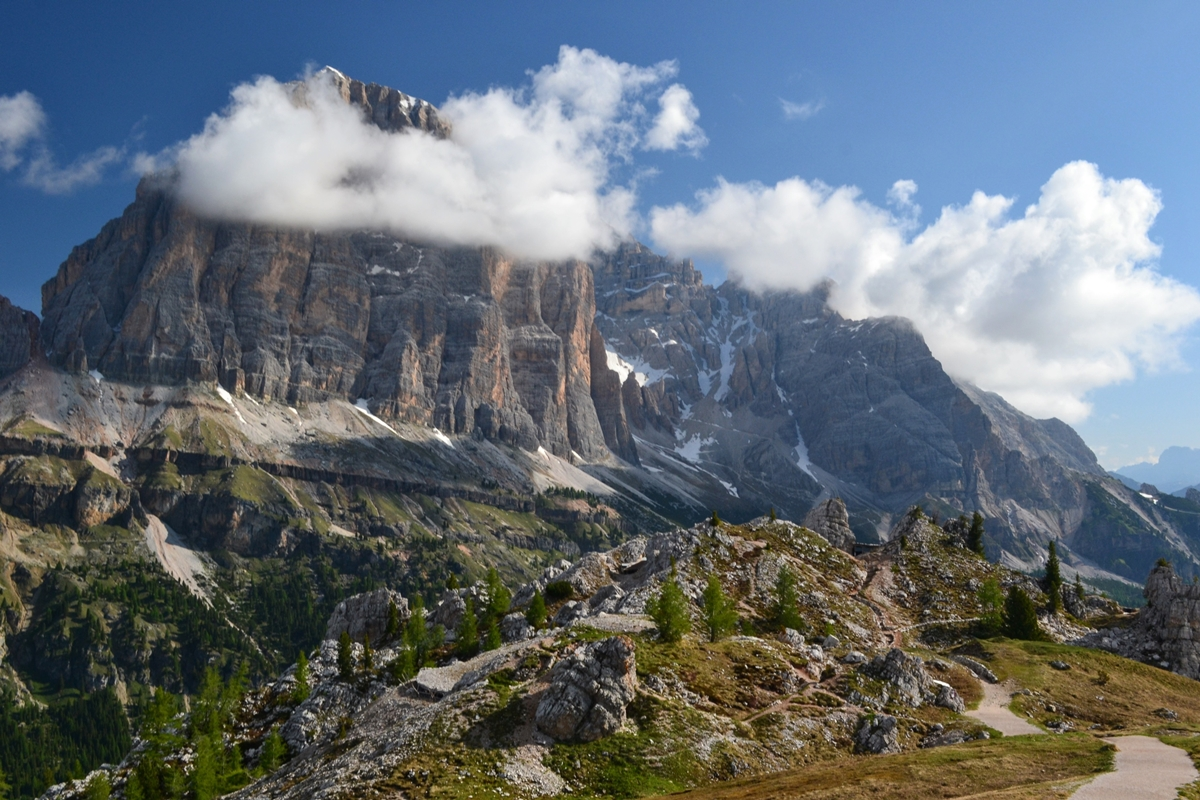 Delektowanie się alpejską panoramą