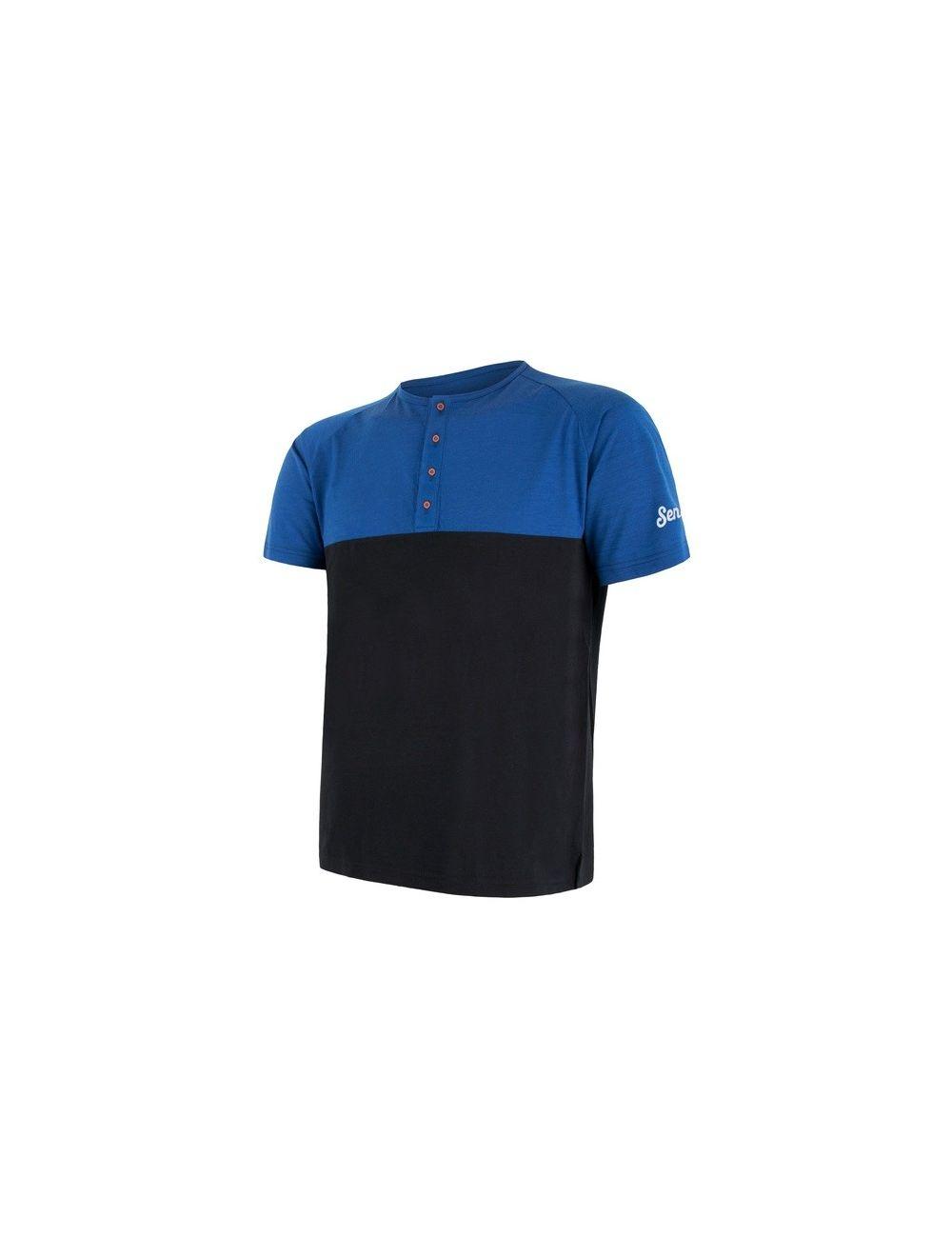 SENSOR Termoaktywna koszulka męska MERINO AIR PT TEE SS BUTTON