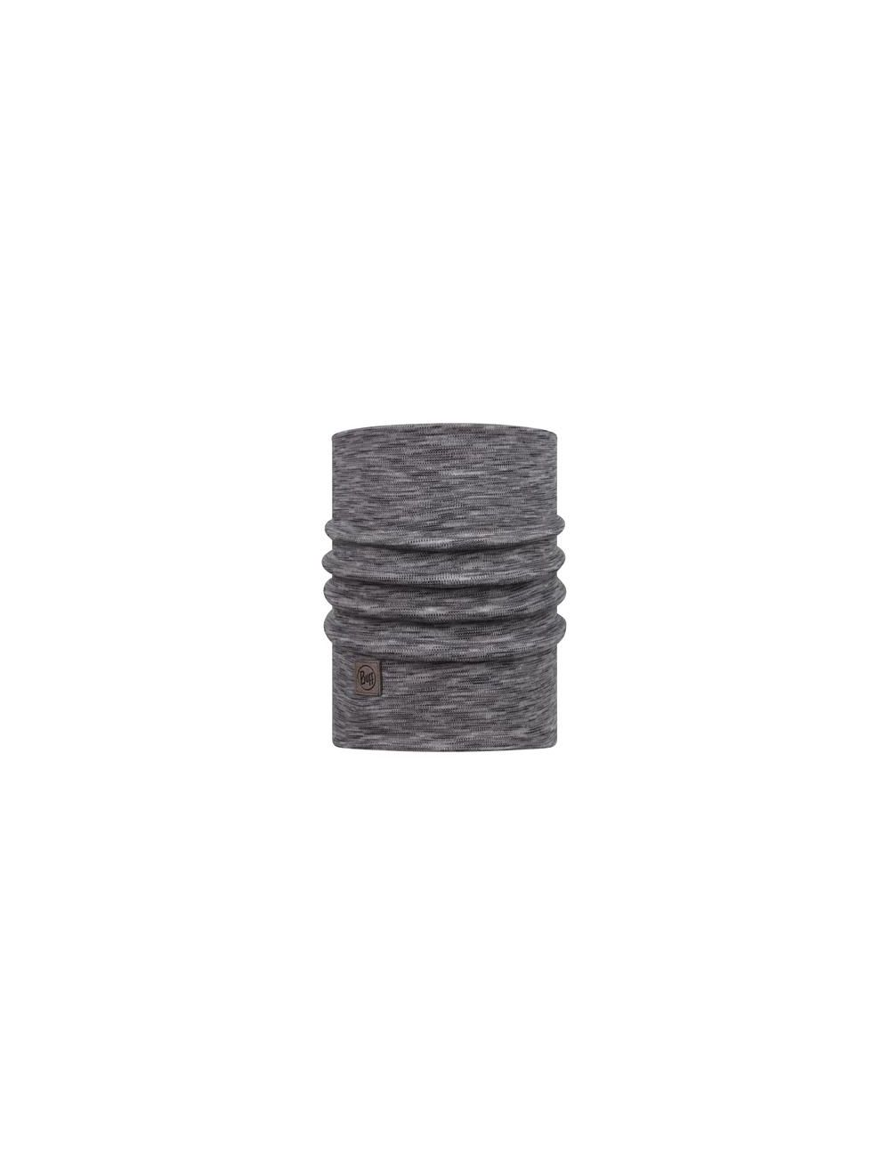 BUFF Komin HEAVYWEIGHT MERINO WOOL fog grey multi stripes