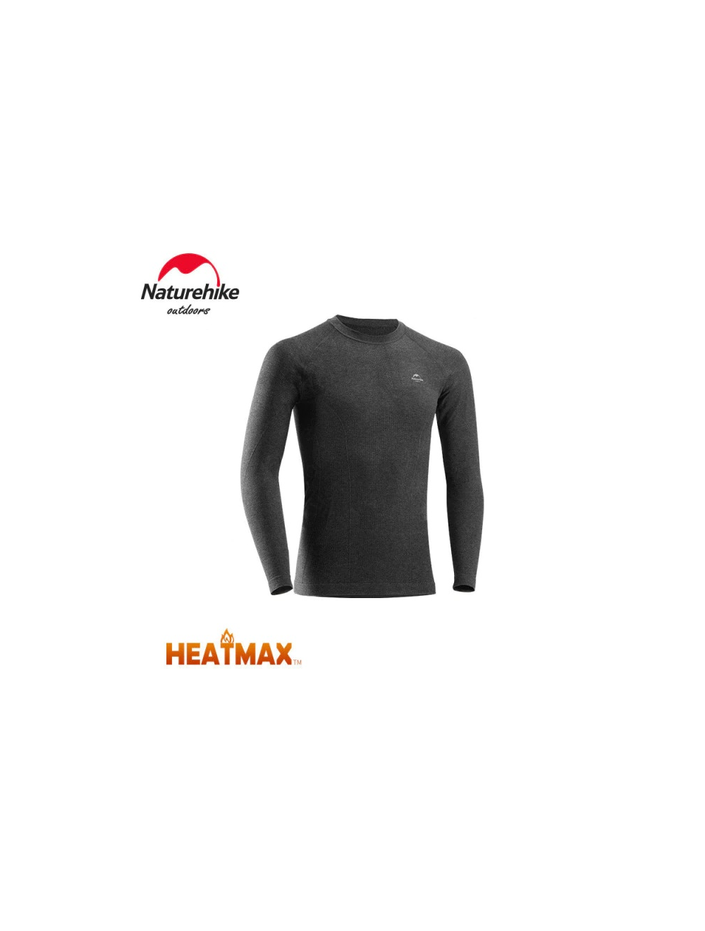 NATUREHIKE Koszulka termoaktywna męska HEATMAX grey