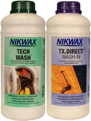 NIKWAX Zestaw TECH WASH + TX. DIRECT WASH-IN 1l