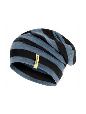 SENSOR Czapka MERINO ACTIVE black stripes