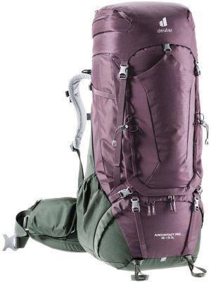 DEUTER Plecak trekkingowy damski AIRCONTACT PRO 65 + 15 SL aubergine-ivy