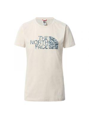 THE NORTH FACE Koszulka damska EASY TEE ss vintage white-monterey blue ashbury floral print