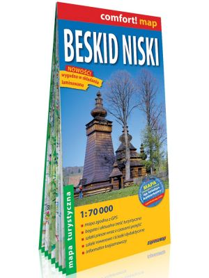 EXPRESSMAP Mapa turystyczna BESKID NISKI laminowana