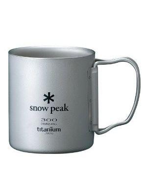 SNOW PEAK Kubek TITANIUM DOUBLE WALL MUG 300 FOLDING HANDLE