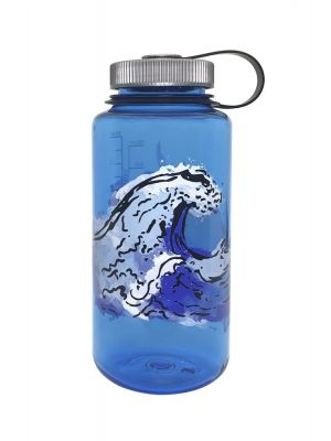 NALGENE Butelka WIDE MOUTH 1L blue w/water graphic