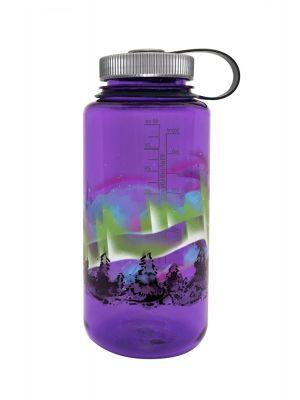 NALGENE Butelka WIDE MOUTH 1L purple w/earth graphic