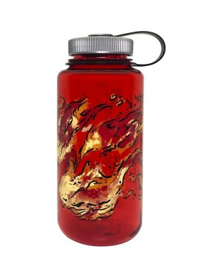 NALGENE Butelka WIDE MOUTH 1L red w/fire graphic