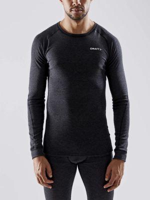 CRAFT Bielizna termoaktywna męska CORE WOOL MERINO SET black