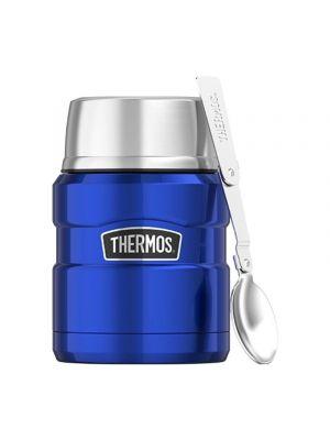 THERMOS Termos obiadowy ze składaną łyżką 0,47 L blue