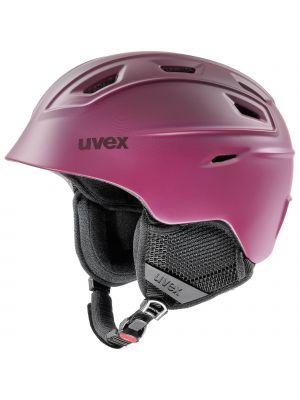 UVEX Kask narciarski FIERCE berry mat