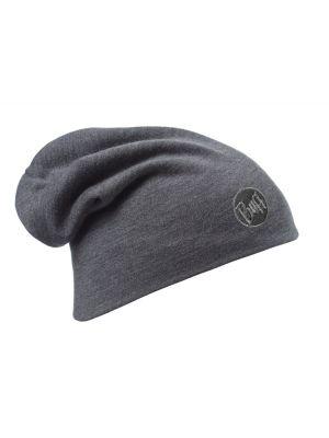 BUFF Czapka HEAVYWEIGHT MERINO WOOL HAT solid grey