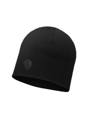 BUFF Czapka HEAVYWEIGHT MERINO WOOL HAT solid black