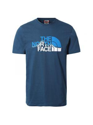 THE NORTH FACE Koszulka męska S/S MOUNTAIN LINE TEE monterey blue/tnf white
