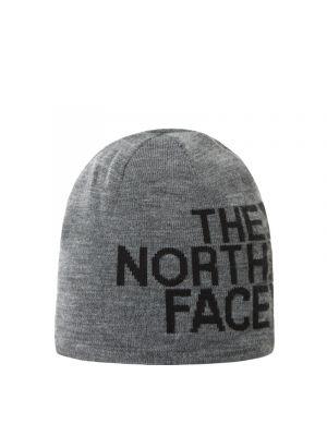 THE NORTH FACE Czapka dwustronna REVERSIBLE TNF BANNER BEANIE tnf mid grey heather/tnf black
