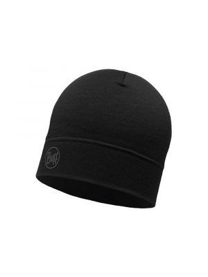 BUFF Czapka LIGHTWEIGHT MERINO WOOL HAT solid black