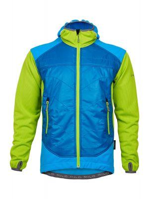 MILO Kurtka polarowa męska DEVE blue aster/blue beat/lime green