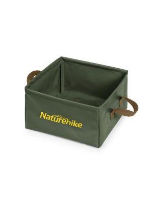 NATUREHIKE Wiadro składane FOLDABLE SQUARE BUCKET army green 13 L