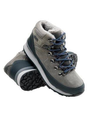 HI-TEC Buty zimowe damskie MIDORA MID WP WO'S middle gray/dark grey/lake blue