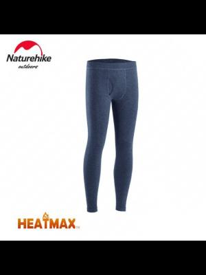 NATUREHIKE Legginsy termoaktywne męskie HEATMAX navy blue