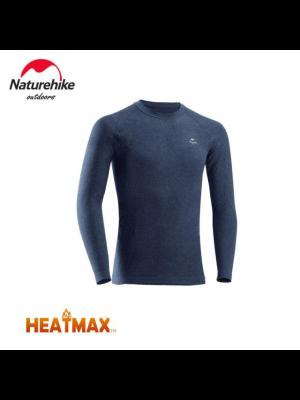NATUREHIKE Koszulka termoaktywna męska HEATMAX navy blue