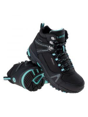 HI-TEC Buty trekkingowe damskie HAPITER MID WP WOS black-turquoise