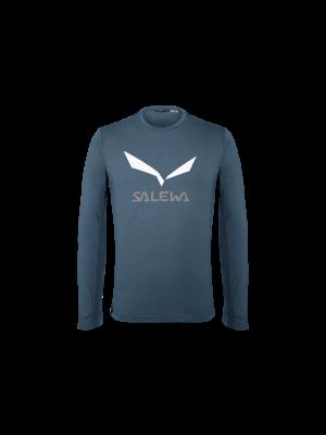SALEWA Koszulka męska SOLIDLOGO DRY TEE L/S premium navy melange