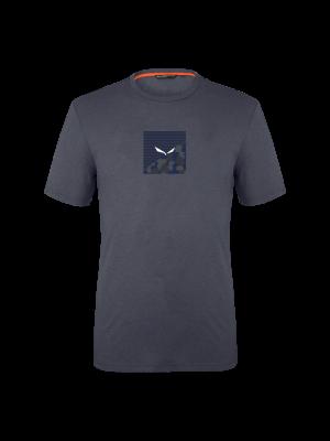 SALEWA Koszulka męska PRINTED BOX DRY T-SHIRT premium navy melange