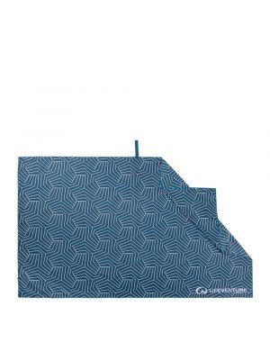 LIFEVENTURE Ręcznik szybkoschnący RECYCLED SOFTFIBRE PRINTED TOWEL geometric navy