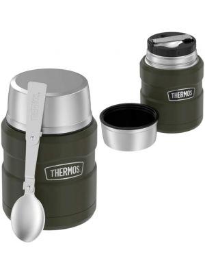 THERMOS Termos obiadowy ze składaną łyżką 470 ml navy green