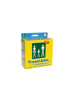 TRAVEL JOHN Przenośne mini WC TRAVELJOHN DISPOSABLE URINAL TJ1N 3 szt.