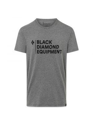 BLACK DIAMOND Koszulka męska STACKED LOGO TEE charcoal heather