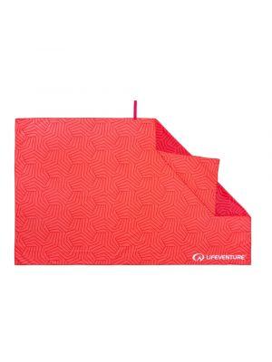 LIFEVENTURE Ręcznik szybkoschnący RECYCLED SOFTFIBRE PRINTED TOWEL geometric coral