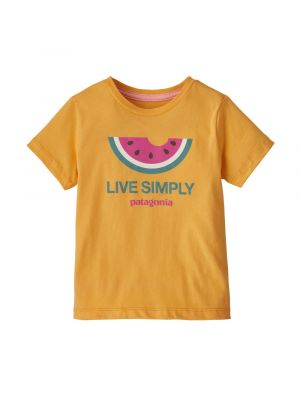 PATAGONIA Koszulka dziecięca BABY LIVE SIMPLY ORGANIC T-SHIRT live simply melon-saffron 6-12m
