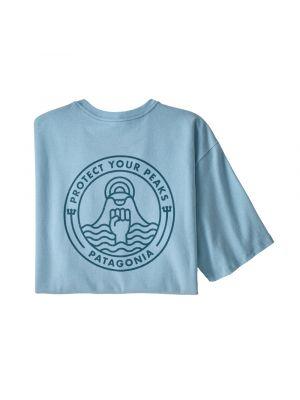 PATAGONIA Koszulka męska PEAK PROTECTOR BADGE RESPONSIBILI-TEE fin blue