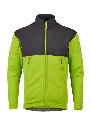 MILO Bluza polarowa męska SANGRI lime green/dark grey