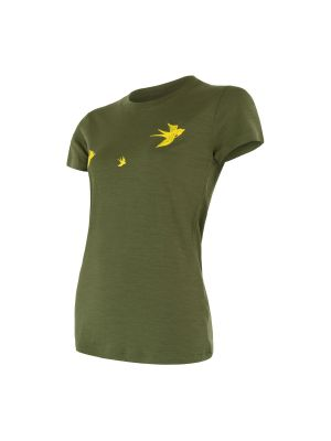 SENSOR Termoaktywna koszulka damska MERINO ACTIVE PT TEE SS olive