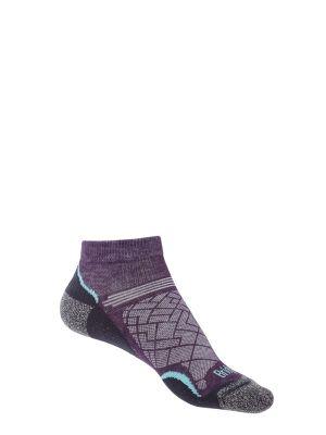BRIDGEDALE Skarpety damskie HIKE ULTRA LT T2 COOLMAX LOW purple grey
