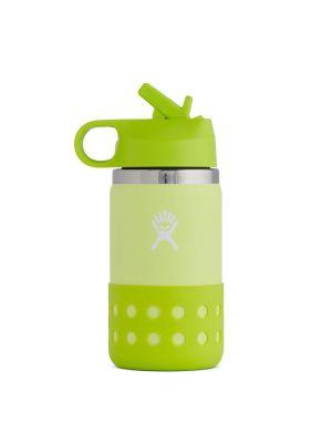 HYDRO FLASK Butelka dziecięca KIDS WIDE MOUTH STRAW LID & BOOT 355 ml honeydew