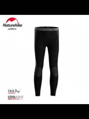 NATUREHIKE Legginsy termoaktywne męskie WR04 COOLMAX black