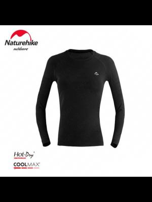 NATUREHIKE Koszulka termoaktywna damska WR04 COOLMAX black